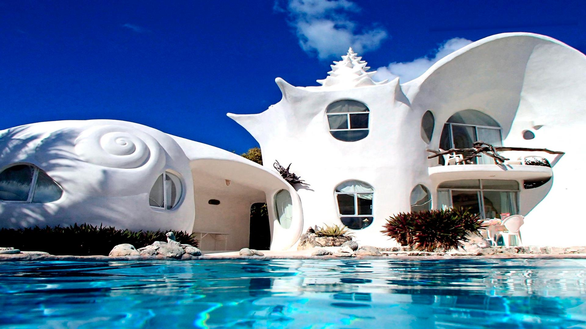 Casa del Caracol, la casa extraña de México que se encuentra en Isla Mujeres.