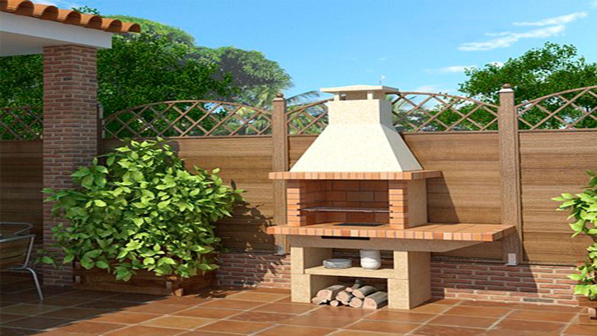 Construir una barbacoa for El jardin de luz ibiza