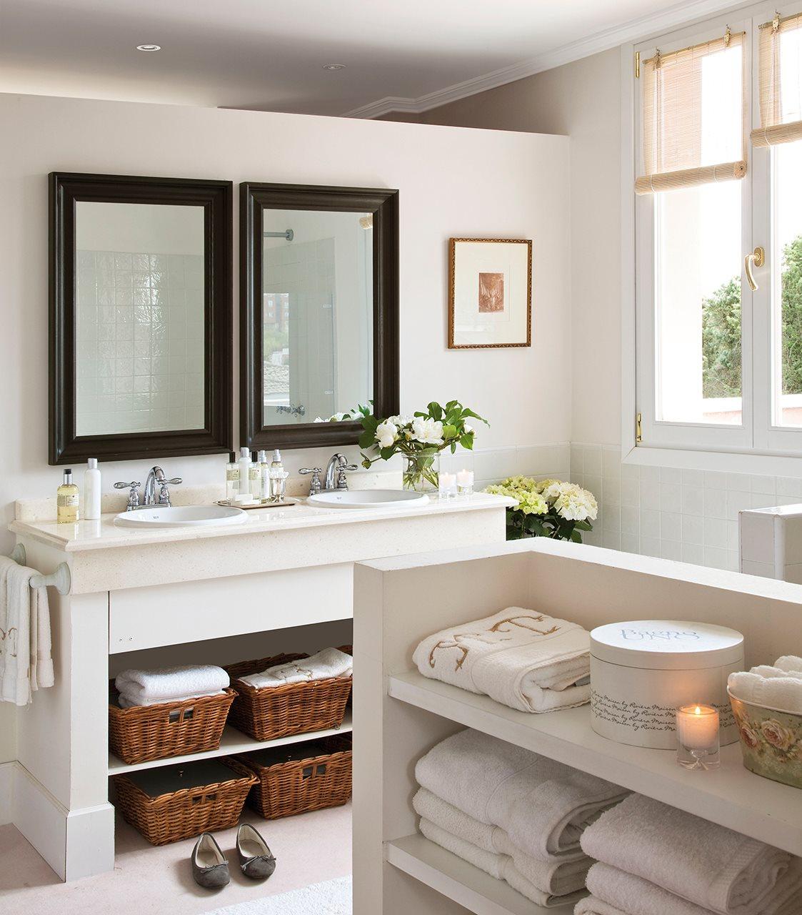 Mira que idea más original para guardar cosas en un baño